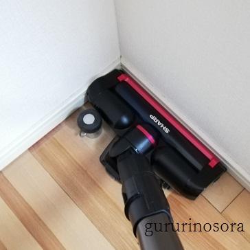 掃除機と部屋の写真